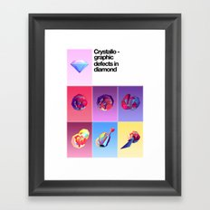 Crystallographic defects in diamond Framed Art Print