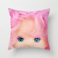 Pink & Cheery Throw Pillow