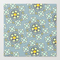 Bunches of Yellow flowers Canvas Print