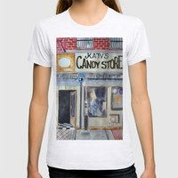 Candy Store Womens Fitted Tee Ash Grey SMALL