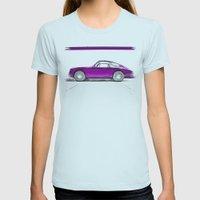 Porsche 911 / III Womens Fitted Tee Light Blue SMALL