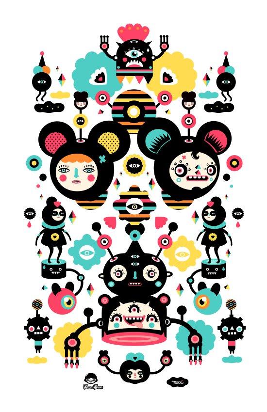 Collaboration Muxxi X Yema Yema Art Print