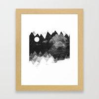 Torn Mounts Framed Art Print