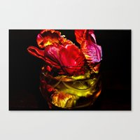 EROS And DEATH - Red Canvas Print
