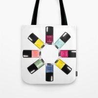 Chanel Nail Varnish Circ… Tote Bag