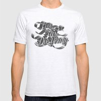 Live Fast Die Young - Black and White Mens Fitted Tee Ash Grey SMALL