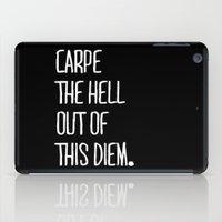Carpe Diem ///www.pencil… iPad Case