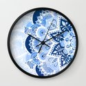Lacy Blues Wall Clock