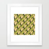Trailing Hair And Fan //… Framed Art Print