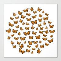 Papillons Canvas Print