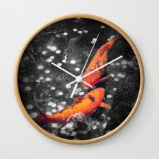 Lucky Koi Fountain Wall Clock