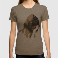 Lost In Thought Womens Fitted Tee Tri-Coffee SMALL
