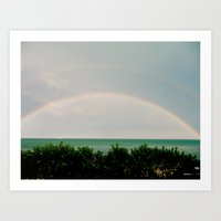 Double Rainbow Art Print