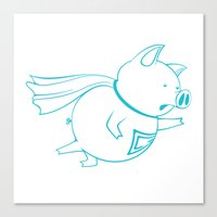piggy 07 Canvas Print