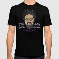 CORNEL WEST Mens Fitted Tee Black SMALL