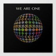 Canvas Print featuring WE ARE ONE - Color Versi… by Klara Acel