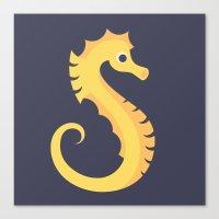 Letter S // Animal Alpha… Canvas Print