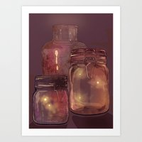 Flickering Stars Art Print
