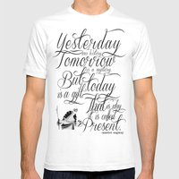 Yesterday is history. Mens Fitted Tee White SMALL