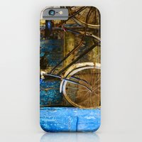 iPhone & iPod Case featuring Blue Bicycle by Eyeshoot Photography