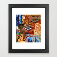 Militant Millie and the Peace Grenade Framed Art Print