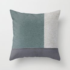 Green Stucko Throw Pillow