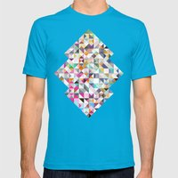 Confetti Mens Fitted Tee Teal SMALL