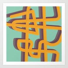 Trails Art Print