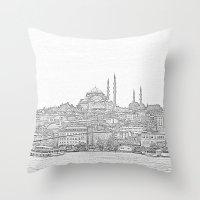 İstanbul Throw Pillow