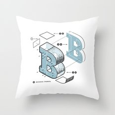 The Exploded Alphabet / B Throw Pillow