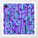 Plink Purple (see also Plink, and Plink Cherry) Art Print