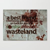 Zombie Infested Wasteland Canvas Print