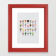 Video Games Pixel Alphab… Framed Art Print