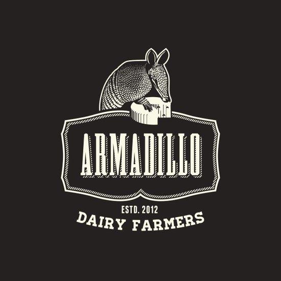 Armadillo Dairy Farmers - Fantasy Vintage Logo Art Print