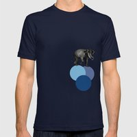 Elephant Balance Mens Fitted Tee Navy SMALL