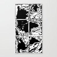 Monotype Map (Black) Canvas Print