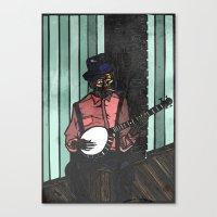 Banjo Man Canvas Print