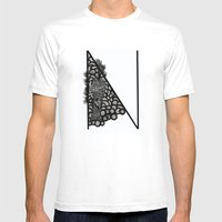 Letter N Mens Fitted Tee White SMALL