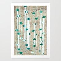 Birch Grass Art Print