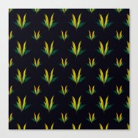 Linear flowers Canvas Print
