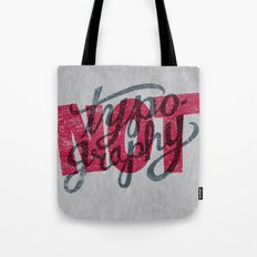 Not Typography Tote Bag