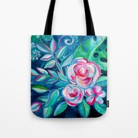 Tropical Camellia Extravaganza - oil on canvas Tote Bag