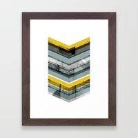 Grey & Yellow Chevron Framed Art Print
