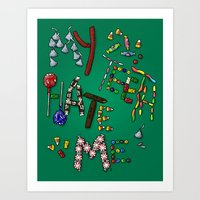 My Teeth Hate Me Art Print