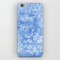 Abstract Snow Flakes On … iPhone & iPod Skin