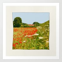 Poppy Field. Art Print