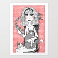 OBSESSIVE CAT DISORDER Art Print