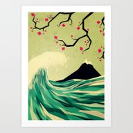 Art Print featuring Falling In Love by Yetiland