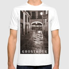 GHOSTHOUR - VALENCIA - DUPLEX Mens Fitted Tee White SMALL
