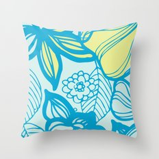 Oceanic Floral  Throw Pillow